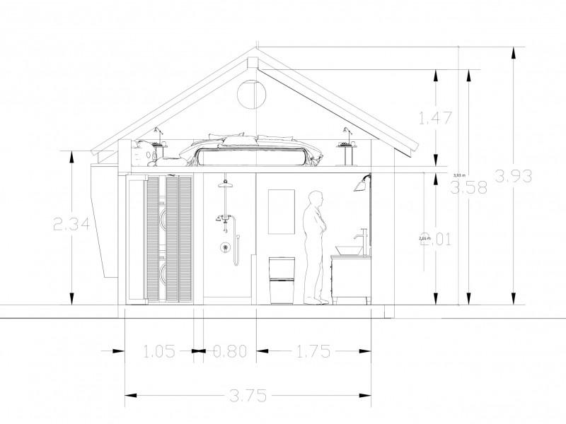 cottage section bath