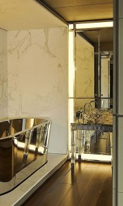 art deco gold bathroom via digsdigs