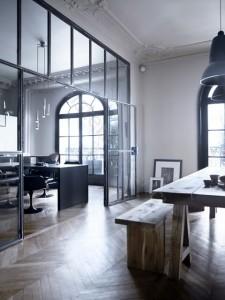 herringbone flooring modern wall window