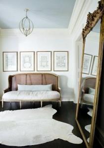 white cowskin rug turner davis interiors